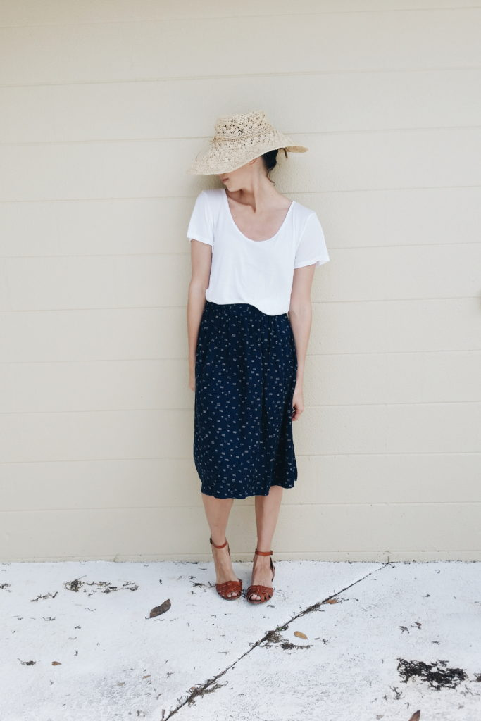 Shirt and skirt: Old Navy, Sandals: Target